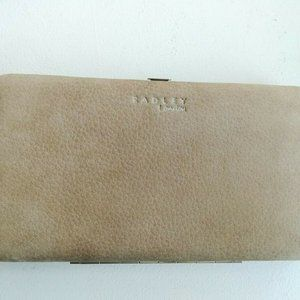 Radley Real Suede Leather Clutch / Large Wallet